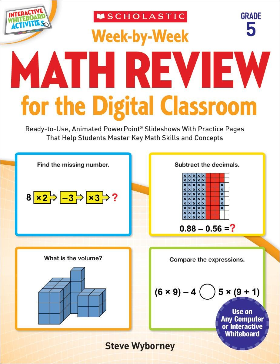 Week-by-Week Math Review for the Digital Classroom: Grade 5: Ready ...