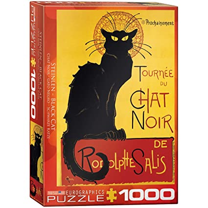 Amazon.com: Eurographics Chat Noir por Steinlen 1000 piece ...