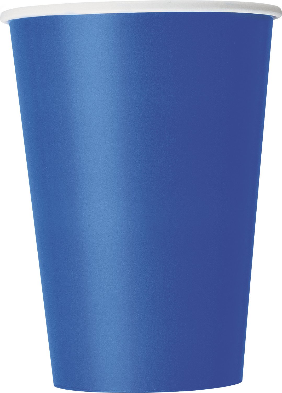 Color azul cerceta 32117 355 ml Unique Party- Paquete de 10 vasos de papel