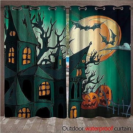 BlountDecor Cortina de Halloween para el hogar, Patio, al ...