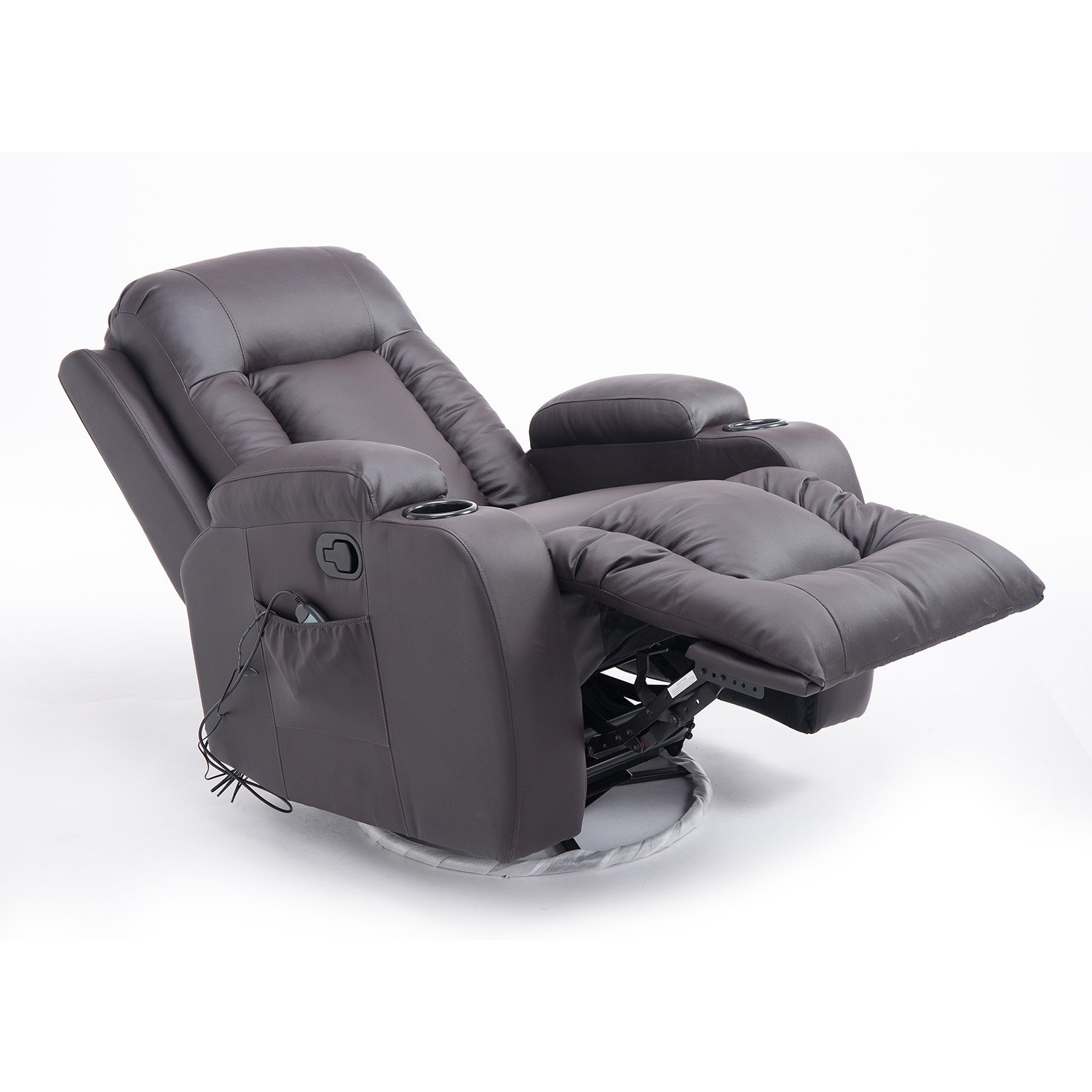 Amazon Hom PU Leather Heated Vibrating Massage Recliner