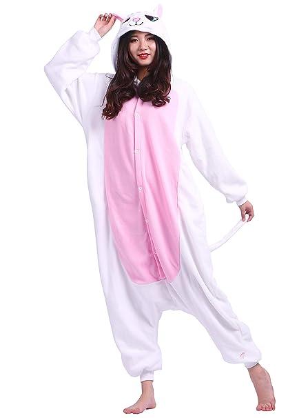 Kigurumi Pijama Animal Entero Unisex para Adultos con Capucha Cosplay Pyjamas Gato Ropa de Dormir Traje de Disfraz para Festival de Carnaval Halloween ...