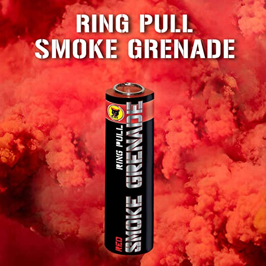Exclusive Online Pack of 3 Colour Ring Pull Smoke Grenades with Ideal for Paintball Weddings Photoshoots /& Special Effects Red, White /& Blue