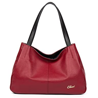 74b06e83724fc Amazon.com: CLUCI Leather Handbags Designer Tote Purse Satchel Shoulder Bag  for Women: Clothing