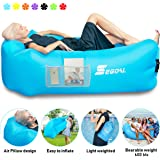SEGOAL Inflatable Lounger Air Sofa Couch with Pillow, Portable Waterproof Anti-Air Leaking for Indoor/Outdoor, Camping…