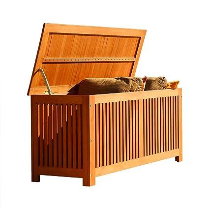 Amazoncom VIFAH V513 Outdoor Wood Storage Box Oiled Rubbed