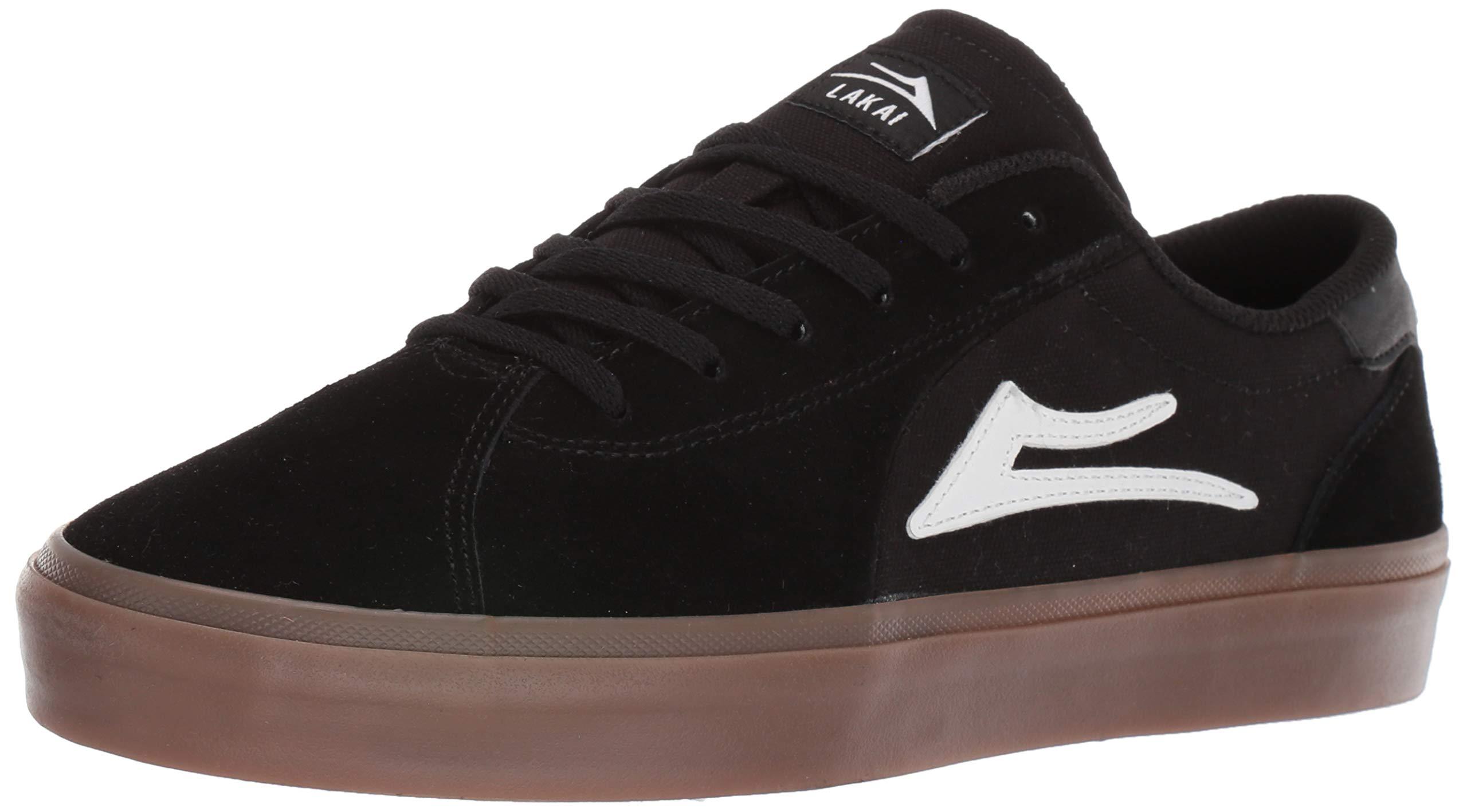 Lakai Footwear Summer 2019 Flaco II Black/Gum Suede Size 8.5 Tennis Shoe, M US by Lakai