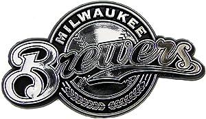 MLB Milwaukee Brewers Chrome Automobile Emblem