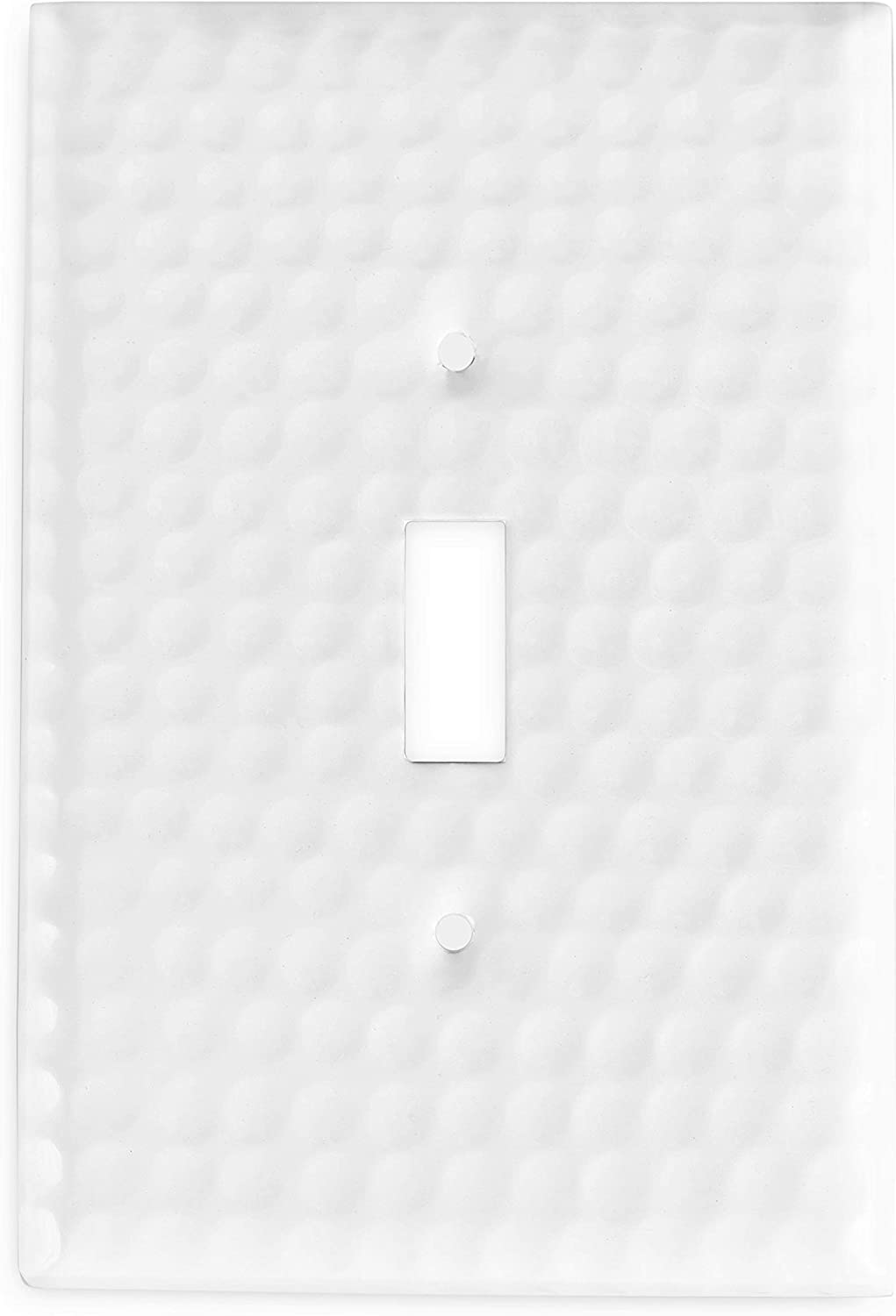 Monarch Abode 19007 Toggle Wall Plate, 1-Gang, Classic White