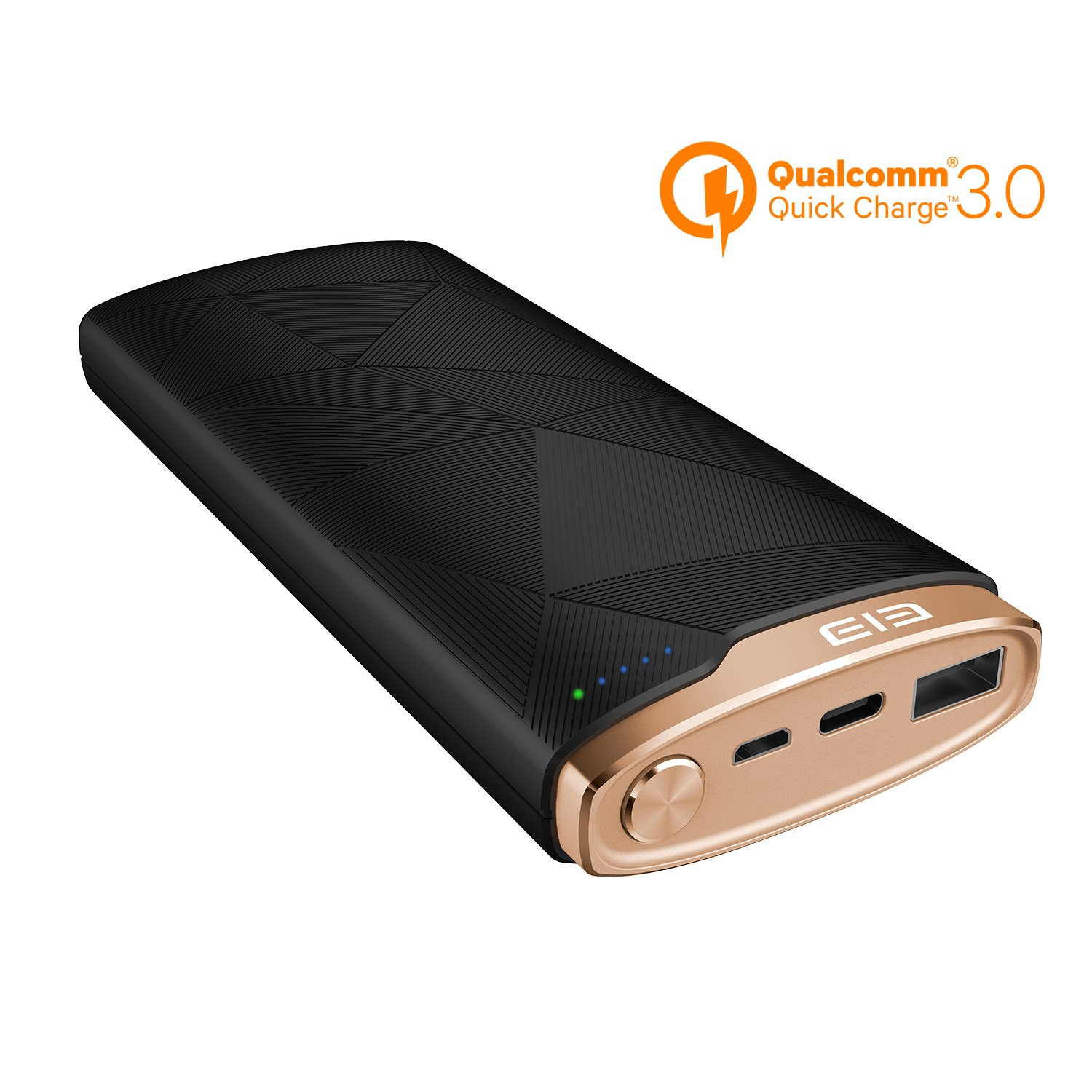 (Qualcomm Certified Quick Charge 3.0) MGcool 16000mAh Portable Charger,LED Indicator Power Bank, USB-C Port, Backwards Compatibility, External Battery Pack for Long-timeTravel, Business Trip,Camping