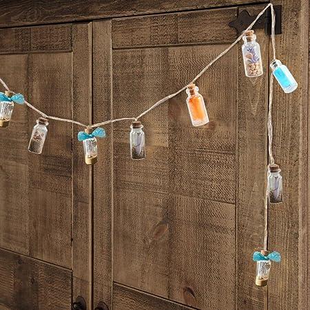 Pulluo 50+2pcs Mini Botellas de Cristal 5 ml Botes de Cristal con Tapón de Corcho Botellas de Vidrio con 30 m Cuerda Tornillos de Ojo Botella de ...