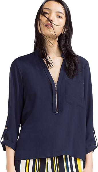 Zara - Blusa Cremallera, Talla XS: Amazon.es: Ropa y accesorios
