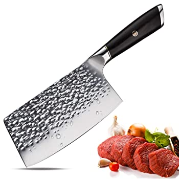 Aroma House 7-Inch German Steel Chinese Cleaver