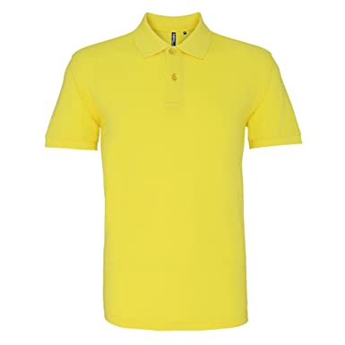 Asquith & Fox Asquith and Fox Mens Polo, Amarillo (Lemon Zest 000 ...