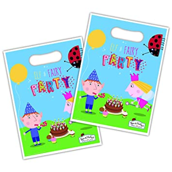 Official Ben and Holly Party Loot Bags x 8 by Ben & Holly ...