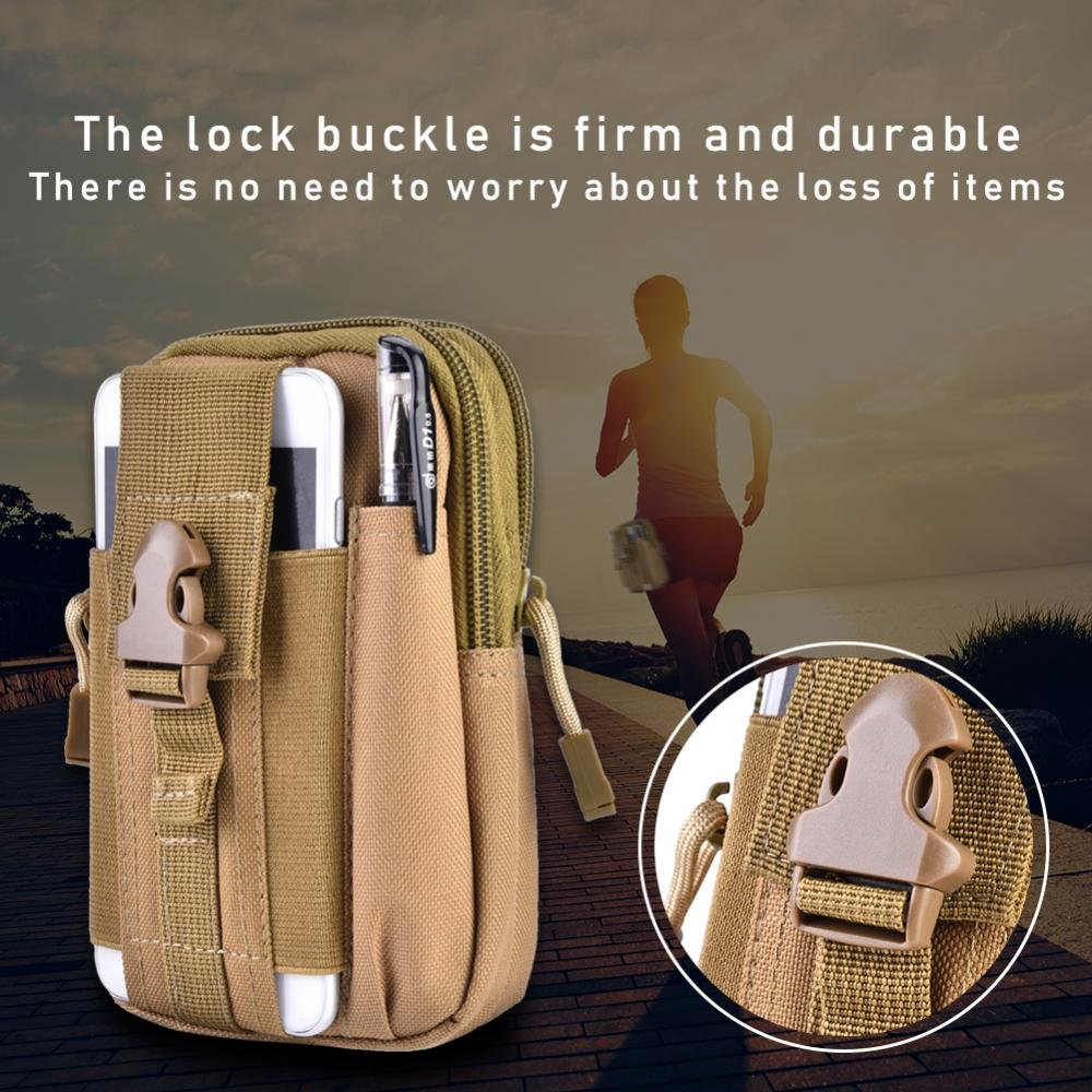 Tbest Tactical Molle Pouch Bag Outdoor Camping Portable Multifunzionale Utility Camouflage Marsupio Pack Cell Phone Holster Holder Belt Bag per Uomo Donna Youth