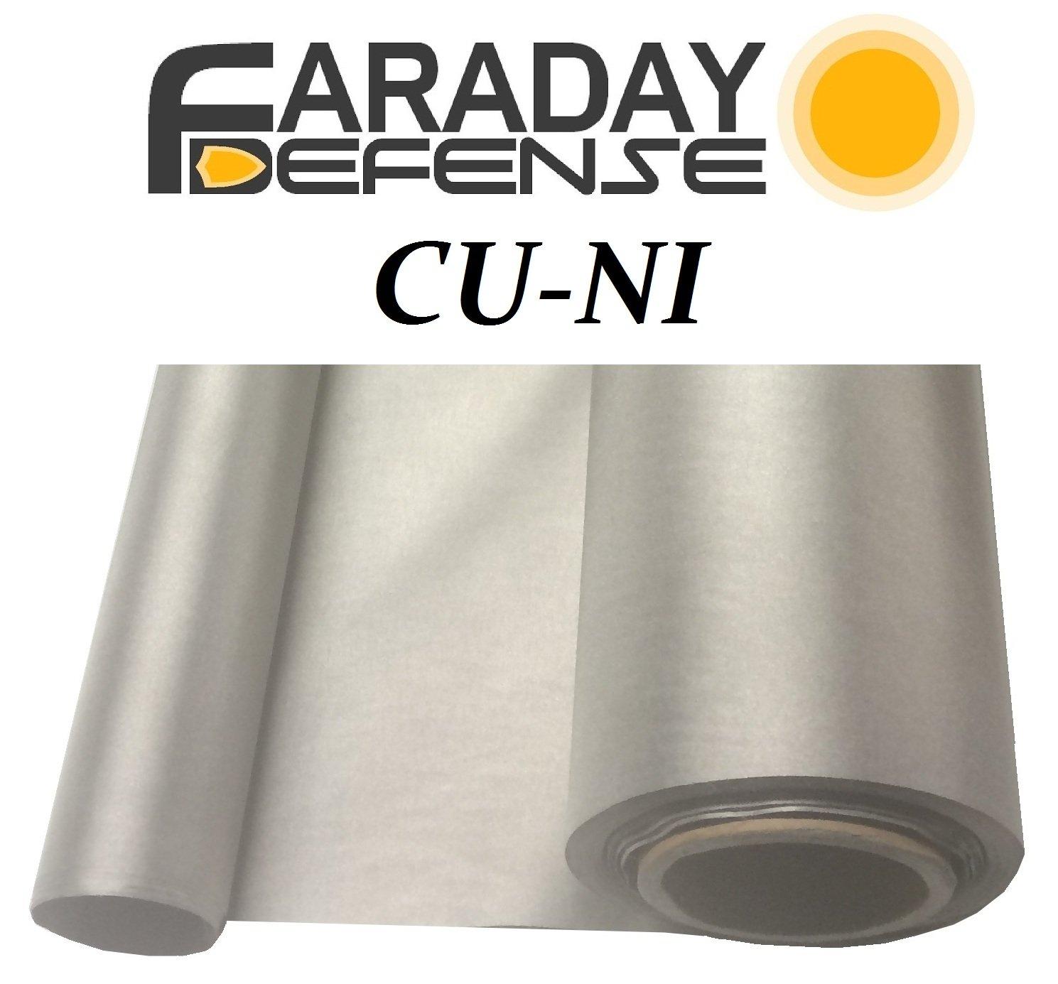 Faraday Defense RF RFID EMF Shielding Nickel Copper Fabric 50'' x 1' Signal Blocking Material