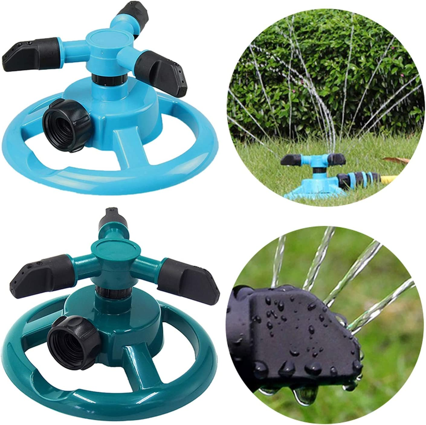 Water Sprinkler 360 Degree Circle Rotating  Automatic Watering Garden Grass 1 pc