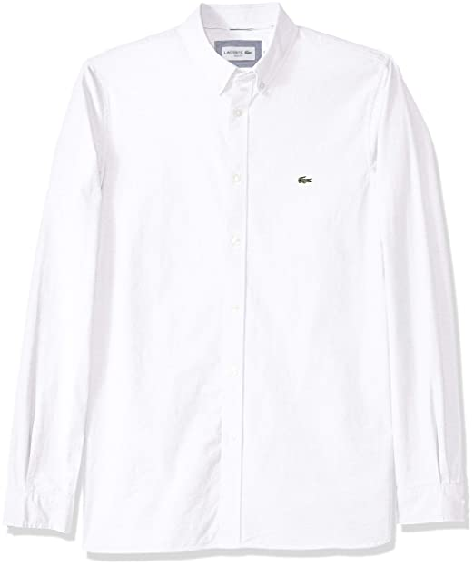 Amazon.com: Lacoste - Camisa Oxford de manga larga para ...