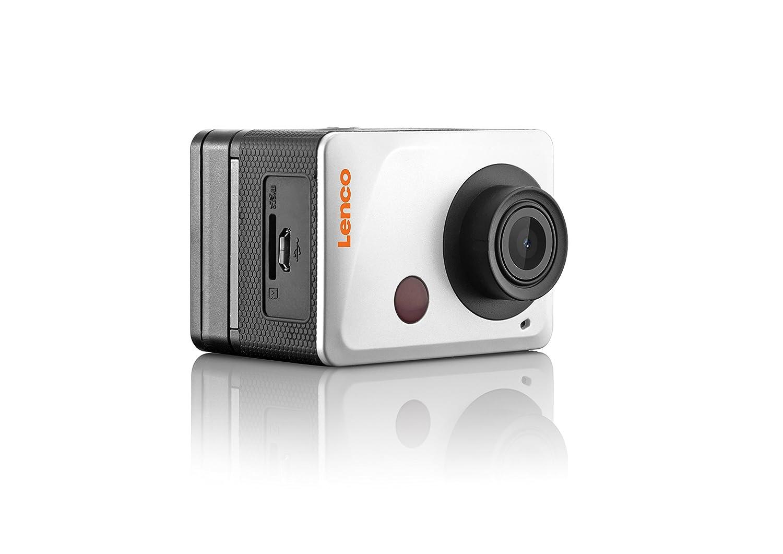 Lenco Sportcam-500 - Cámara Deportiva (MOV, 1080p, CMOS, 5 MP, JPG, LCD) Negro, Plata