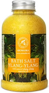 Bath Salt Ylang 21.16 Ounces - Natural Sea Salt with Ylang Ylang Essential Oil - Best for Baths - Good Sleep - Relaxing - Body Care - Beauty - Aromatherapy