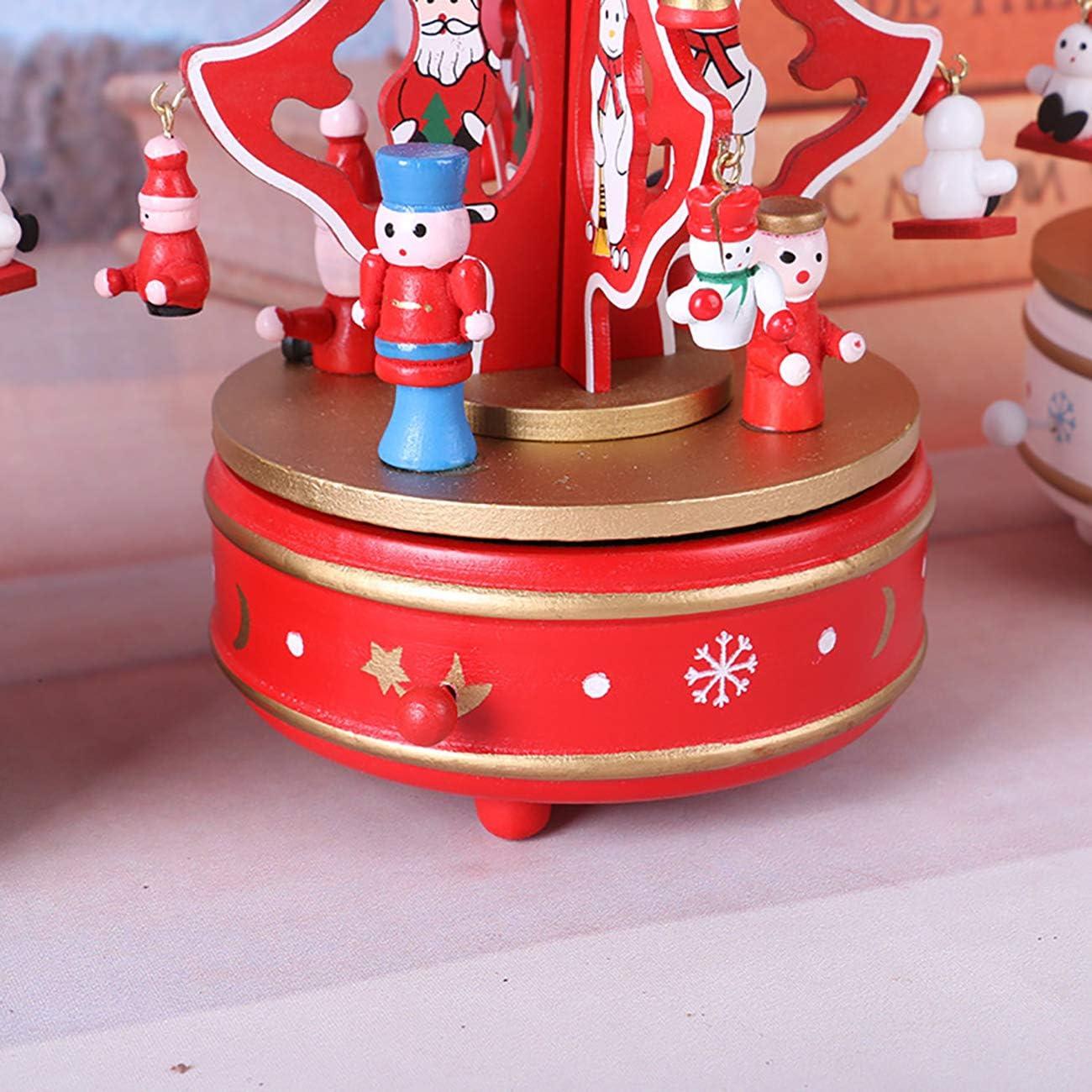 THEE Bo/îte /à Musique de Carrousel en Bois D/écoration de la Maison Jouets pour Enfants