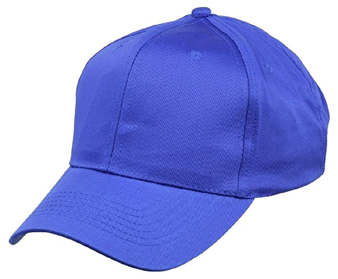 2271380e Amazon.com: New Boys Baseball Caps Youth Blank Plain Kids Size Hat Red Navy  Black White Blue: Clothing