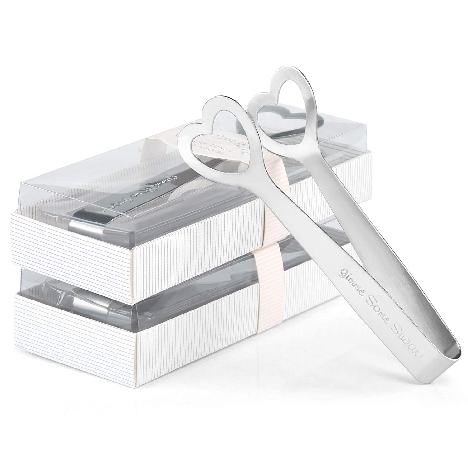 Kesoto Stainless Steel Sugar Tongs Love Heart Shaped Clip Ice Tongs Kitchenware Wedding Favors Silver 3 Piece