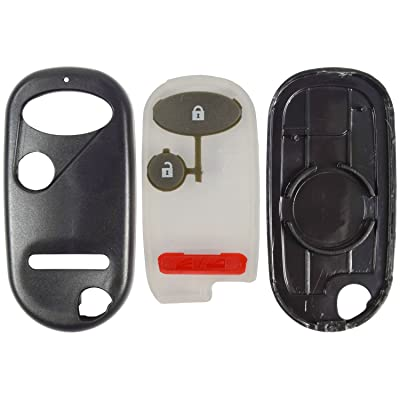 qualitykeylessplus Replacement Keyless Entry 3 Button Case and Pad for Honda Remote Fob FCC ID E4EG8DJ or OUCG8D344HA: Automotive