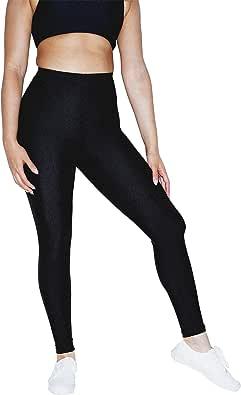 American Apparel Shiny Nylon Tricot Leggings, Black, Small