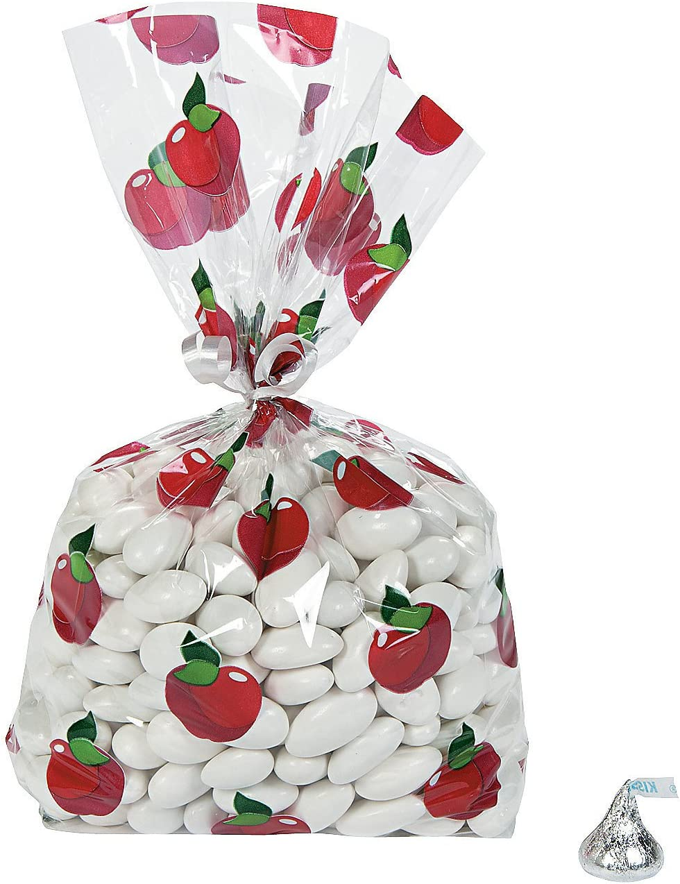 Fun Express - Fall Apple Cello Bags (dz) for Halloween - Party Supplies - Bags - Cellophane Bags - Halloween - 12 Pieces