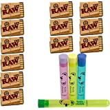 RAW Pre-Rolled Filter Tips for Cigarette Rolling (21 Pack x 12 = 252 Tips) | Natural & Unrefined | Bundle with 4 Koala Doob Tubes