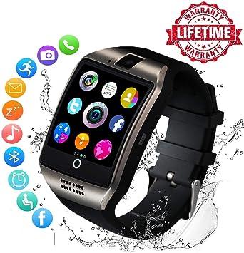 Reloj Inteligente Mujer Hombre Smartwatch Pulsera de Actividad Inteligente con Pantalla Táctil Ranura para Tarjeta SIM Cámara para iPhone Samsung