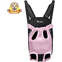 Pawaboo Pet Carrier Backpack, Adjustable Pet Front Cat Dog Carrier Backpack Travel Bag, Legs Out, Easy-Fit for Traveling Hiking Camping, Small Size Size, Pink