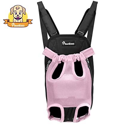 PAWABOO Pet Carrier Backpack, Adjustable Pet Front Cat Dog Carrier Backpack Travel Bag, Legs