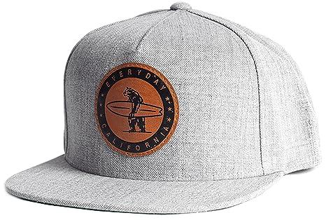 Everyday California  Marine Layer  Snapback Grey Surfing Hat - Flat Brim  Baseball Style Cap e33b6044d5ca