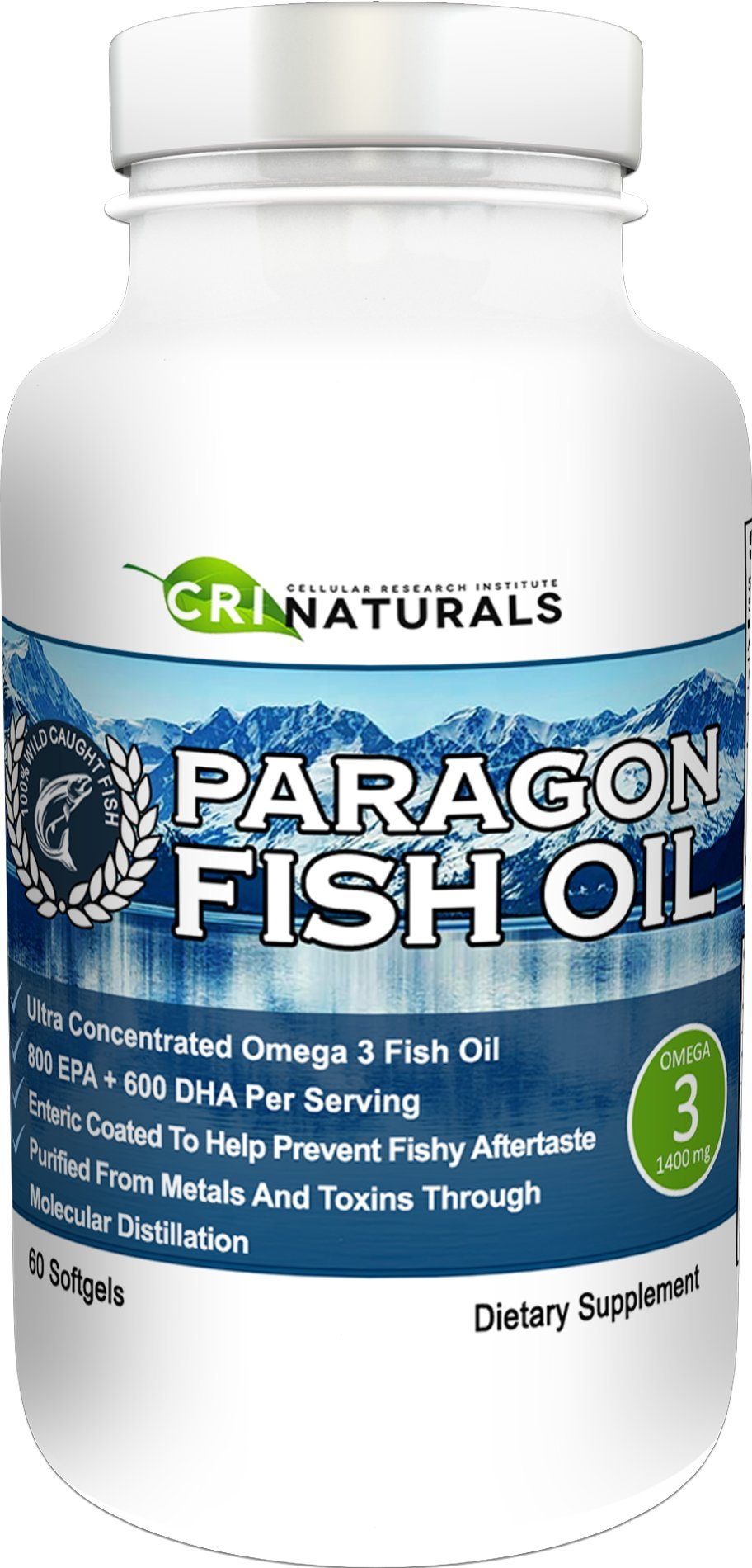 Paragon Fish Oil - Purest - Triple Strength - Omega 3 Fish Oil - Burpless - Highest - EPA + DHA