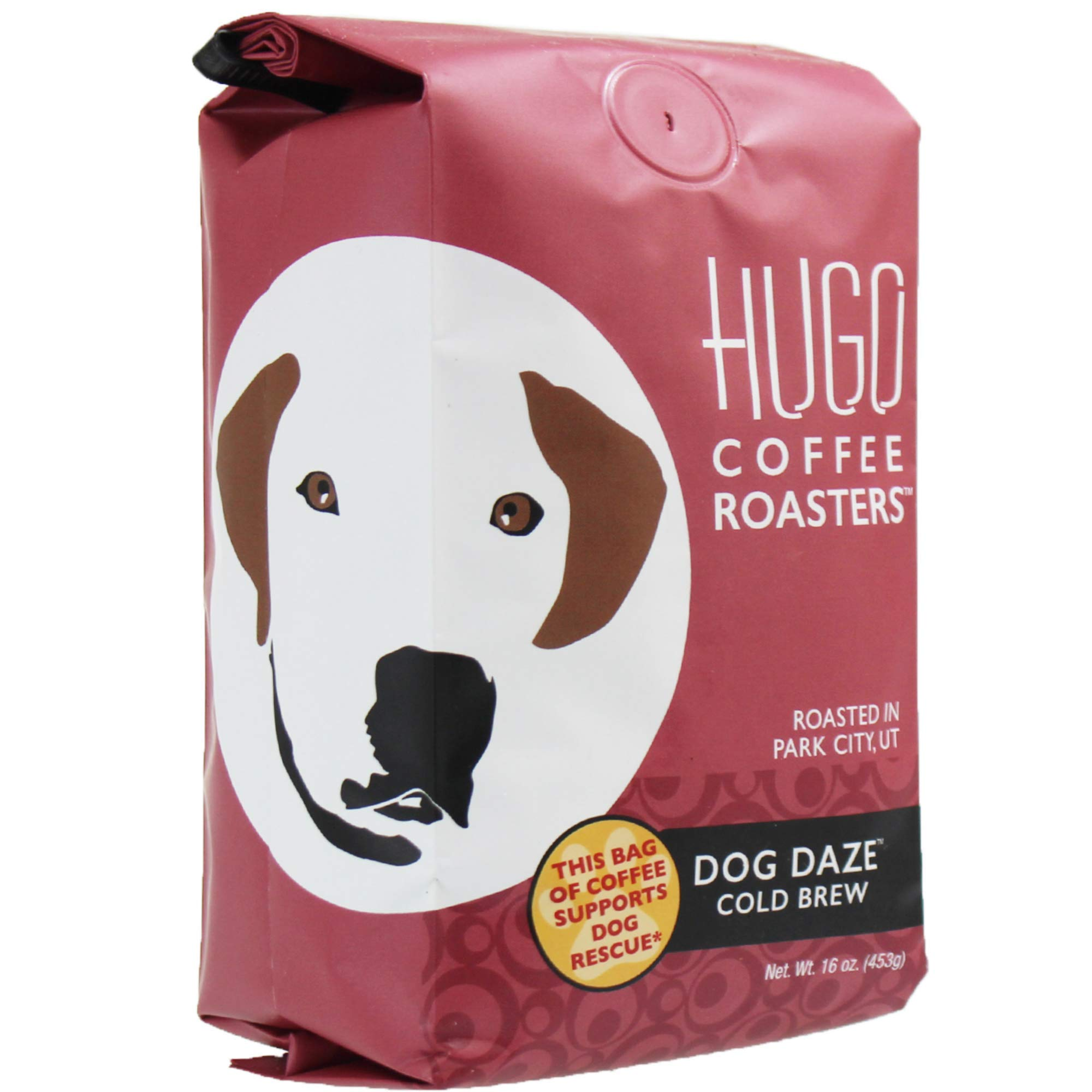 Hugo Coffee | Dog Daze Cold Brew, Coarse Ground, 1 Pound | Every Bag Sold Supports Dog Rescue by Hugo Coffee Roasters