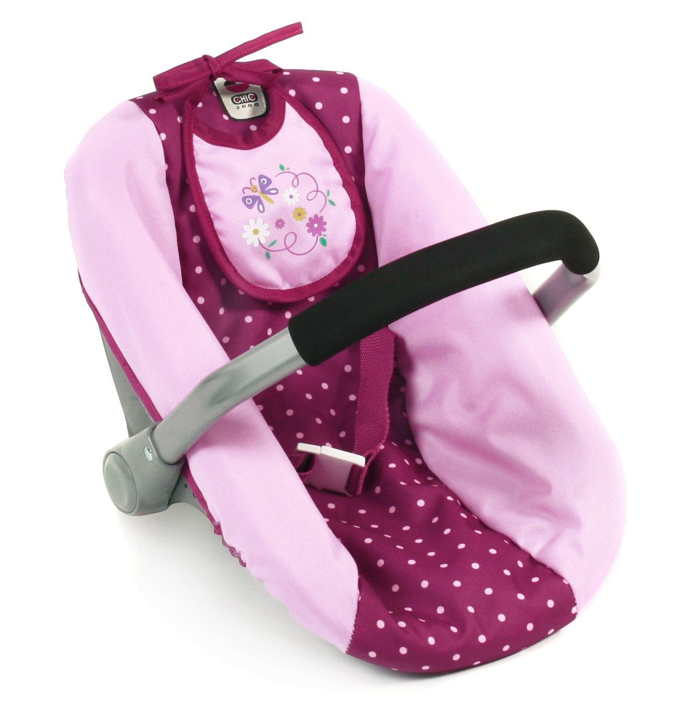 Lila Bayer Chic 2000 708 25 Puppen-Autositz f/ür Babypuppen