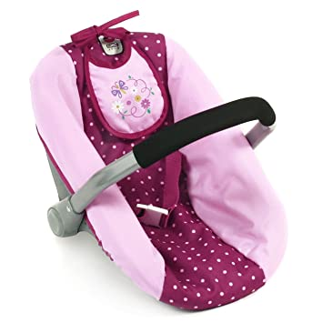 Bayer Chic Dolls Car Seat Dots Blackberry