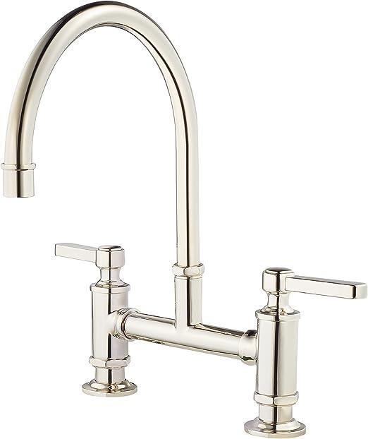 Amazon Co Jp Price Pfister Gt31 Tdc High Arc Spout Port Haven 2 Handle Kitchen Faucet Polished Chrome Gt31tdd Diy Tools Garden
