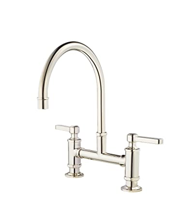 Pfister Gt31 Tdd Port Haven 2 Handle Kitchen Faucet Polished Nickel
