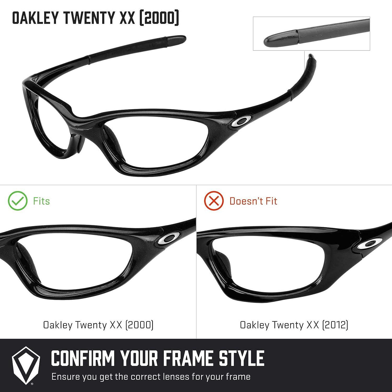141cb1521b Amazon.com  Revant Polarized Replacement Lenses for Oakley Twenty XX (2000)  Elite Black Chrome MirrorShield  Sports   Outdoors