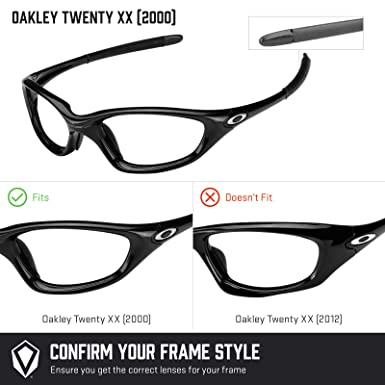 72d8617c509 Amazon.com  Revant Polarized Replacement Lenses for Oakley Twenty XX (2000)  Elite Black Chrome MirrorShield  Sports   Outdoors