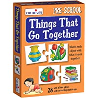 Creative Educational Aids P. Ltd. Things That Go Together Puzzle (Multi-Color, 56 Pieces)