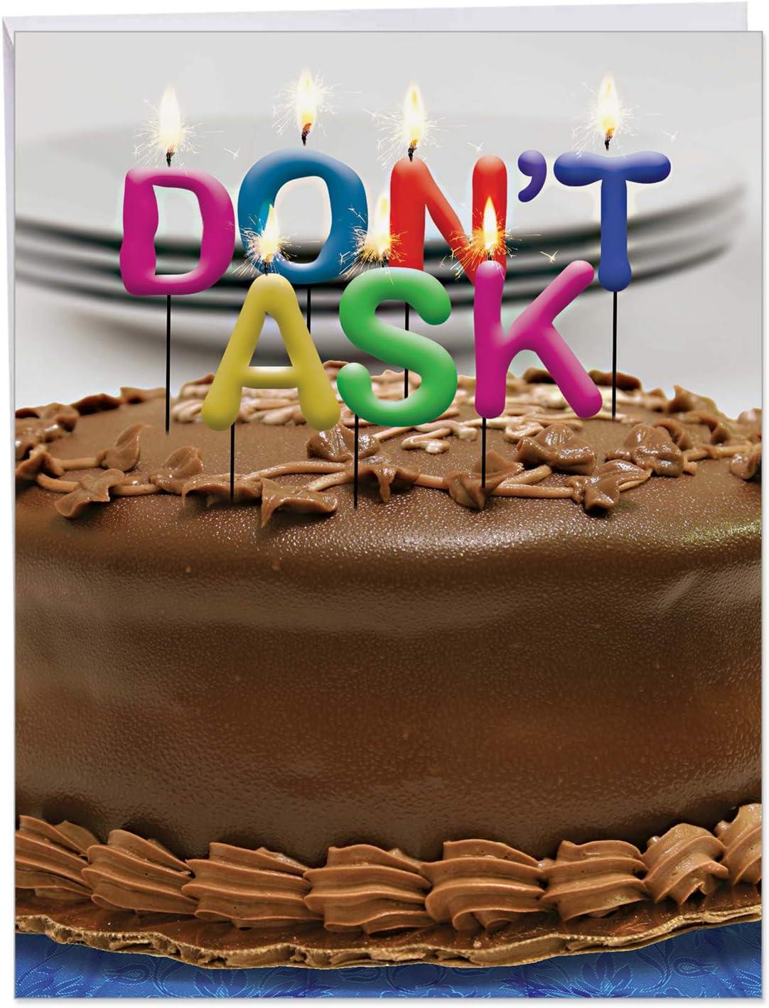 Incredible Amazon Com Big Funny Birthday Card Photo Of Candles On A Cake Funny Birthday Cards Online Inifodamsfinfo