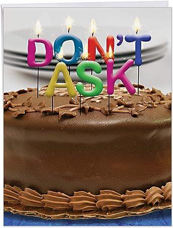 Wondrous Amazon Com Big Funny Birthday Card Photo Of Candles On A Cake Personalised Birthday Cards Akebfashionlily Jamesorg