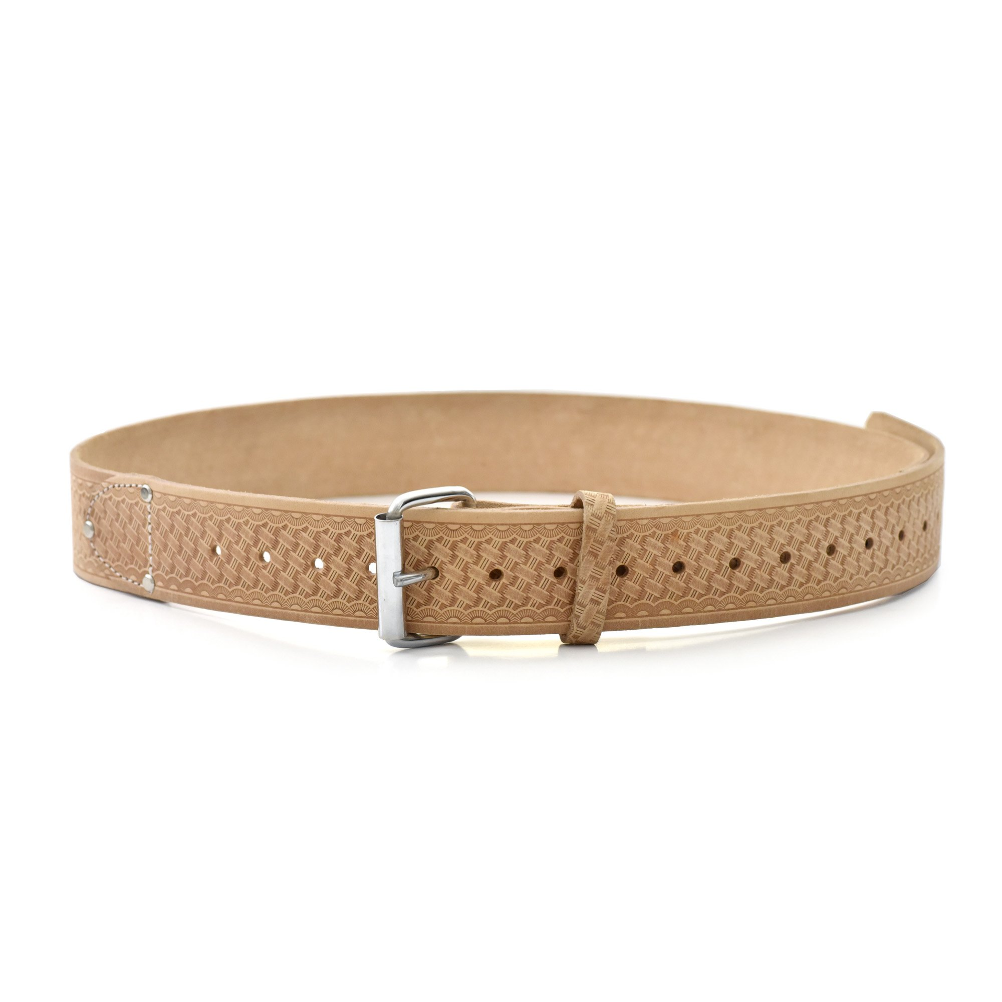 Style n Craft 94-054 2-Inch Wide Heavy Duty Top Grain Leather Work Belt, Tan