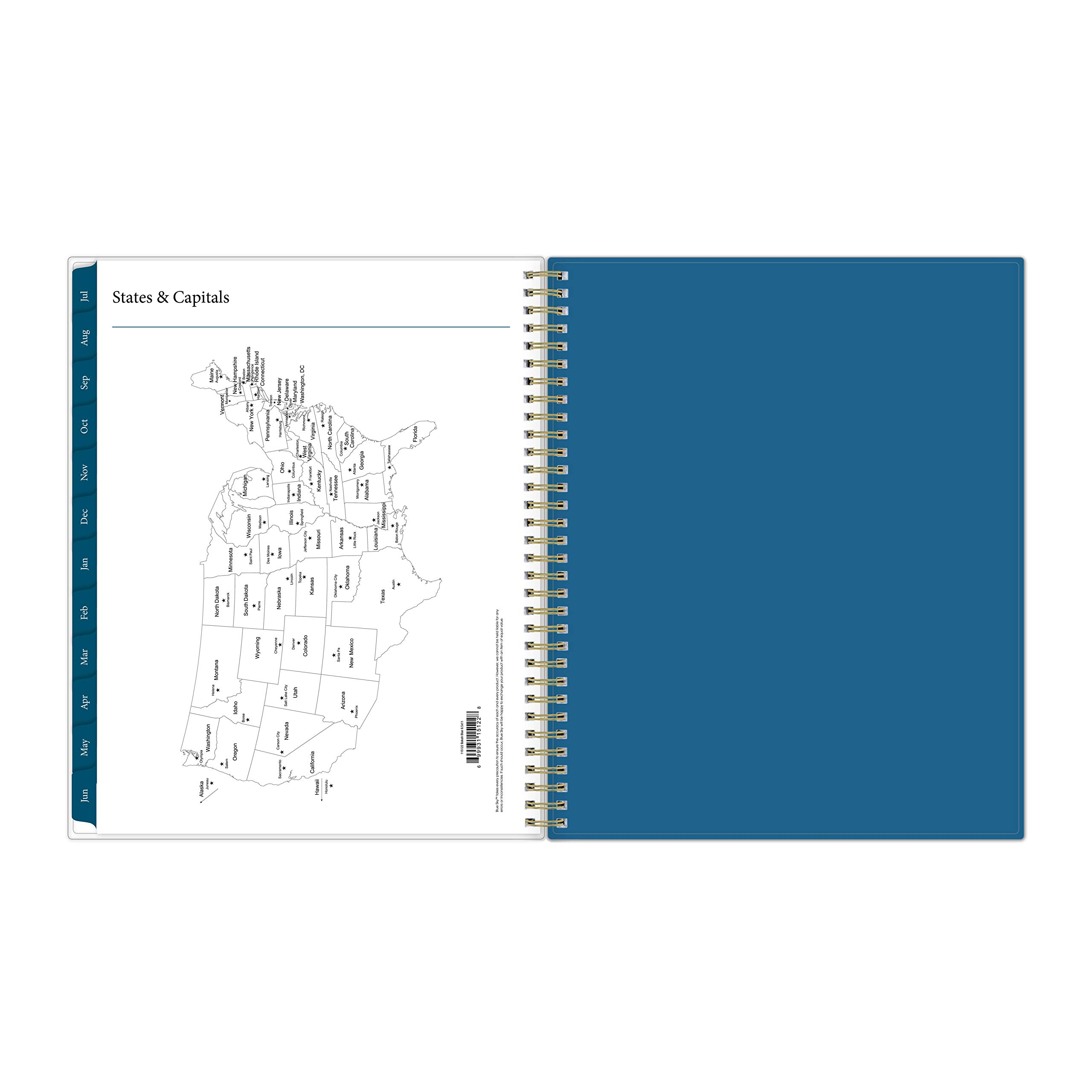 Blue Sky 2019-2020 Academic Year Weekly & Monthly Planner, Flexible Cover, Twin-Wire Binding, 8.5'' x 11'', Bakah Blue by Blue Sky (Image #8)