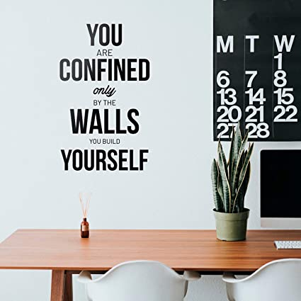 Amazon.com: Vinyl Wall Art Decal - You are Confined Only by ...